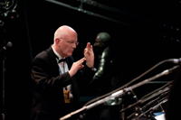 Dan Bukvich directing the University of Idaho Lionel Hampton School of Music Jazz Choir